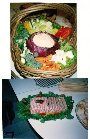 Crudites w/ Cabbage Dip Bowl  &  Homemade Duck Country Pate