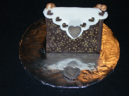 Chocolate Purse w/ Hearts & Stars