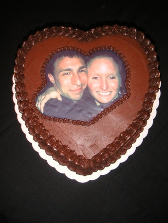 Photo Engagement Cake