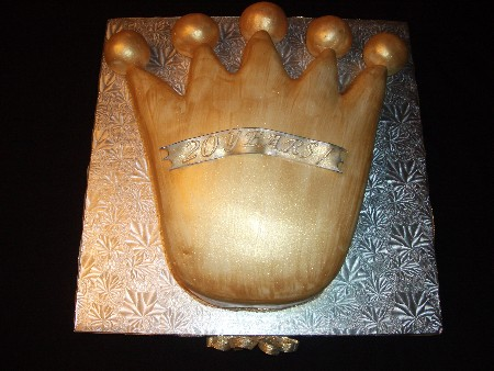 Gold Crown Cake