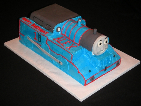 Tommy the Train Birthday Cake